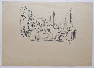 4. Jaffa, Skizze, 1936